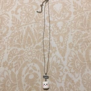 Cute marshmallow necklace